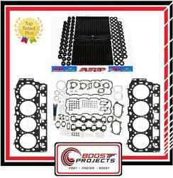 Arp Head Stud And Cyl Head Gasket Set Grade C 1.05mm For Chevy 6.6l Duramax Diesel