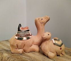 Artesania Rinconada Mama Camel 64 And Baby Camel 64a Classic Collection Retired