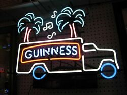 Guinness Track Music Notes Neon Light Lamp Sign 24x20 Wall Glass Garage Decor