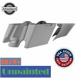 Unpainted Extended Bags Stretched Saddlebag Liner Side Cover For 2014+ Harley