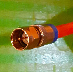 11ft Rg6 Rg-6 Coaxial Coax Cable Sat Catv Hdtv Orange Direct Burial