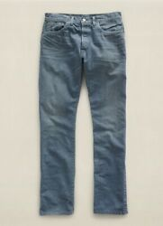 Polo Rrl Menand039s Slim Fit Roper Jeans Sulfer Blue Wash Size 32x32