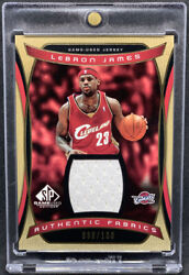 2004-05 Sp Game Used Authentic Fabrics Gold /100 Af-lj Lebron James 2nd Year