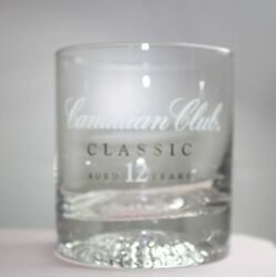 Advertising Canadian Club Classic Whiskey Drinking Glass Aged 12 Years