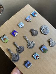 Vintage Pin Collection Lot German Cities Germany Towns 14 Old
