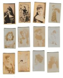 1880's Vanity Fair Cigarette Tobacco Cards - Lot Of 21 Women Actresses