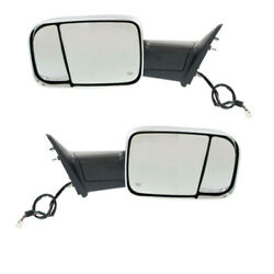 Ram 1500/2500/300 Truck Tow Mirror Power Heated W/signal Puddle Lamp Set Pair