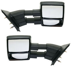 07-14 F150 Tow Mirror Power Heat Memory W/signal Light And Puddle Lamp Set Pair