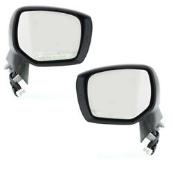 For 14-18 Forester Rear View Mirror Assembly Power W/turn Signal Lamp Set Pair