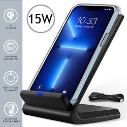 For Iphone 13 12 11 Pro Max 3 In 1 Wireless Fast Charger Charging Stand Station