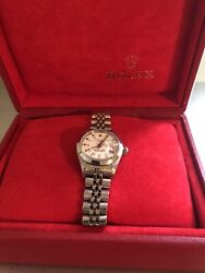 Rolex Ladies Stainless Steel Datejust Watch White Roman Numeral Dial