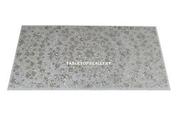 6and039x3and039 Marble Counter Tops Seashell Work Inlay Stones Hallway Decor H4320a
