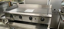 """4' Grill 48"""" Griddle New Thermostat Commercial Gas Temperature Control 4 Burner"""