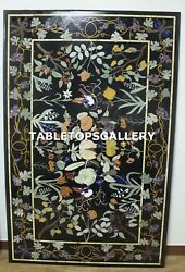 4and039x3and039 Marble Dining Table Top Antique Marquetry Beautiful Inlay Home Decor H4322