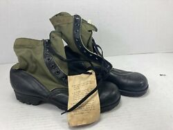 Us Vietnam 1965 Dated 2nd Pattern C.i.c. Jungle Boots Size 12n