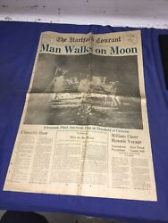 The Hartford Courant News Newspaper July 21,1969 Men Walk On The Moon