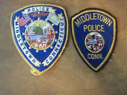 Middletown Cooecticut Police 2 Collectable Patches