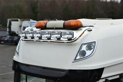 Roof Bar + Leds + Spots For Mitsubishi Fuso Super Great Truck Stainless - Type B
