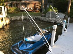 Jet-ski Mooring Whips Bases Swivel To A Vertical Position Strong Aluminum Coated