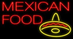 New Mexican Food Hat Real Glass Neon Sign 32 Beer Lamp Light