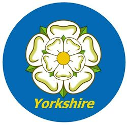 Yorkshire Rose Flag - Fun Novelty Car / Window Sticker + 1 Free / New / Gifts