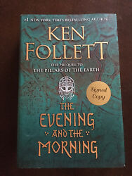 The Evening and the Morning by Ken Follett SIGNED 1st Edition 1st Printing $67.49