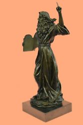 Striking Moses Bronze Sculpture, For Table Or Bookshelf Bookend Book End Deal