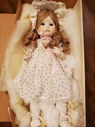 Dolls By Jerri #165 POUTY TODDLER Porcelain Reproduction Antique Doll In Box