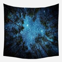 Starry Night Sky Forest Trees Tapestry Wall Hanging Dorm Room Bedroom