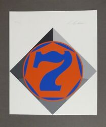 Rare Robert Indiana - Seven - 7 - Heptagon - 1970 - Signed And Numbered Serigraph