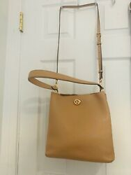 Coach Charlie Leather Bucket Bag Style No. 55200 BEIGE $179.00