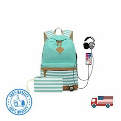 School Backpack for Girls Teens College Bookbag Back Bag with USB Charging $37.68