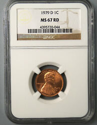 1979-d Lincoln Cent Ngc Ms67rd - Rare In Grade Level 720044