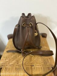 VINTAGE DOONEY AND BOURKE DRAWSTRING BUCKET BAG 80s Shoulder Handbag $80.00