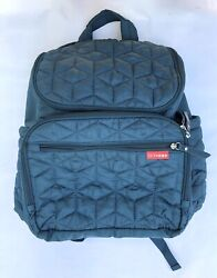 Skip Hop Teal Quilted Backpack Diaper Bag with straps $14.99