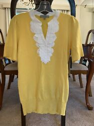 Classiques Entiier Nordstrom Yellow Sweater Medium NWT $25.00