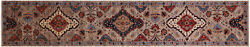 Runner Fine Serapi Hand Knotted Rug 2and039 9 X 14and039 10 - Q5091