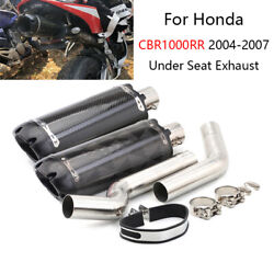 51mm Exhaust Tail Pipe For Honda Cbr1000rr 2004-2007 Slip On Motorcycle Catalyst