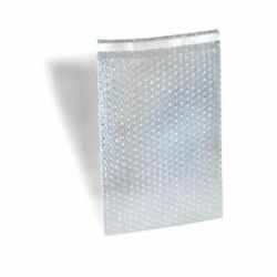8 X 11.5bubble Out Bag 1 Lip N Tape Seal Self-seal Clear Pouch 2100 Pack