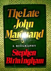 The Late John Marquan By Stepen Birmingham Signed First Edition