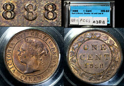 Elite Varieties Canada Large Cent 1888 Repunched 888 - Ms62 A381b