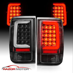 For 1993-1997 Ford Ranger Black Housing C-bar Led Replacement Taillights Pair