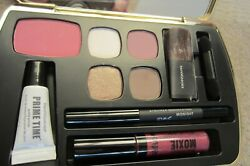 BareMinerals SET FIRED UP EYELINER BLUSH LIPGLOSS SHADOW COSMETIC SET w CLUTCH $49.99