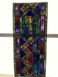 Antique German Stained Glass Church Angel Window From A Closed Church P14