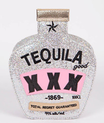 Tequila Silver Clutch Purse $26.99