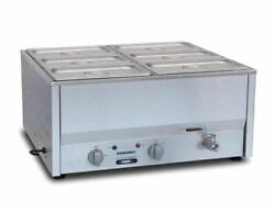 Commercial Roband Counter Bain Marie Food Warmer Bm4c Gp894 - 6x1/3 Gn