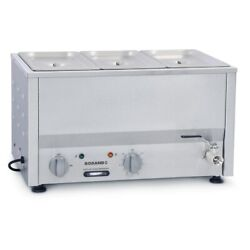 Commercial Roband Counter Top Bain Marie Food Warmer Bm2b Gp885 - 3x1/3 Gn