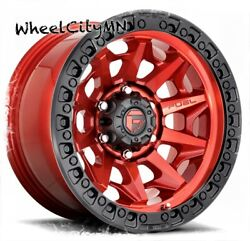 20 X10 Candy Red Black Ring Fuel D695 Covert Wheels Fits Ford F150 Raptor 6x135