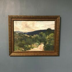 Corwin Knapp Linson Oil On Board Land Scape Painting