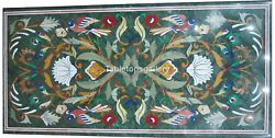 20x40 Marble Dining Table Tops Multi Floral And Birds Inlay Interior Decor B204a